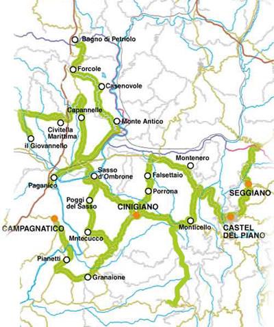 Karta Italien Chianti.Hus I Italien Toscana